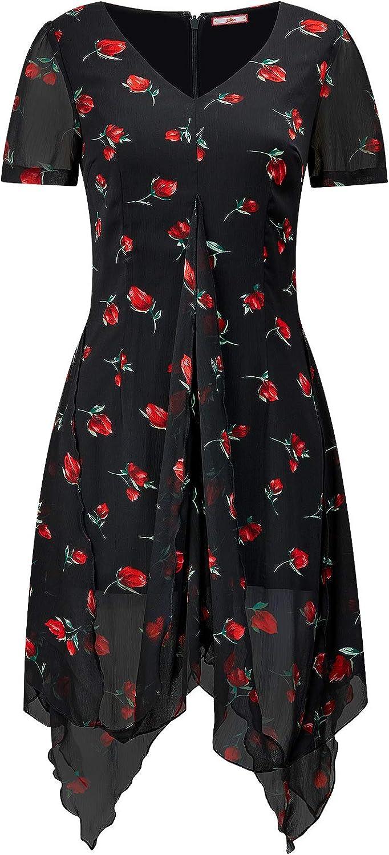 Joe Browns Womens Spanish Rose Floral Print Blouse Black