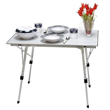 Durchschnittliche Tischhöhe alu rolltisch cingtisch bali tischplatte 90 x 60 cm tischhöhe