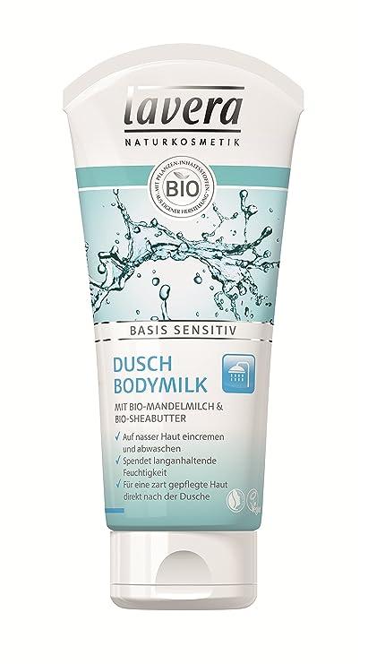 lavera ducha Body Milk Base Sensitiv ∙ en Nasser piel eincremen ∙ almendra Leche & sheabu