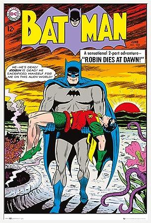 Dc Comics Batman Robin Dies Retro Druck Plakat Film