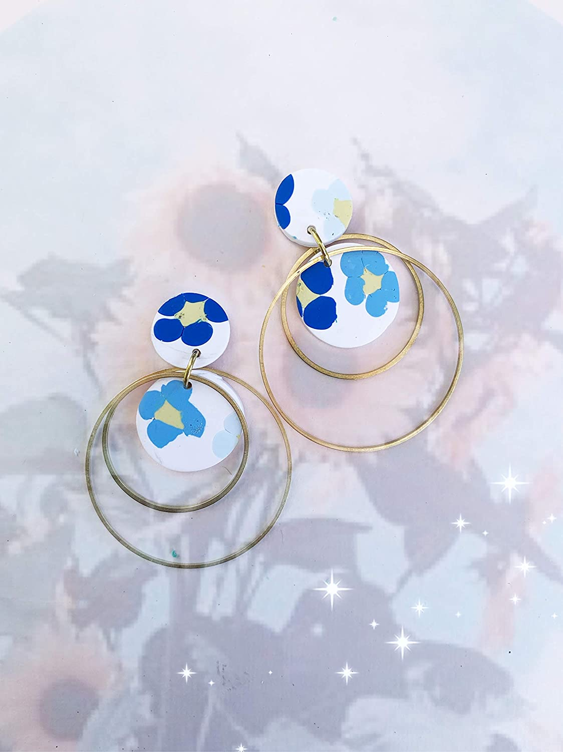 The Yara arch geometric earrings Polymer clay drop earrings statement earrings gifts for her