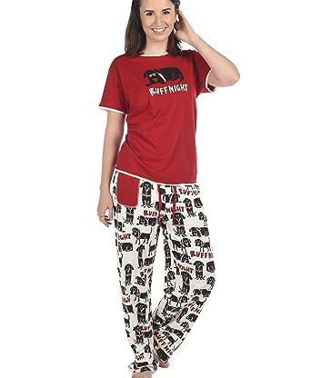 Cute Womens Christmas Pajamas.Amazon Com Women S Pajama Set By Lazyone Cute Ladies