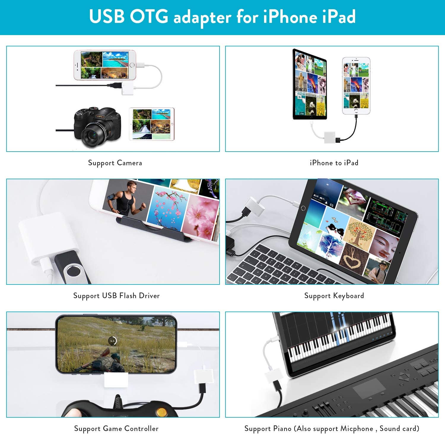 USB Camera Adapter for iPhone iPad,USB 3.0 OTG Adapter with Charing Port Compatible with iPhone 11//X//8//7//6//iPad,Support Digital Camera,USB Flash Driver MIDI Keyboard,Support iOS 9.2-13+,Upto 500mAh