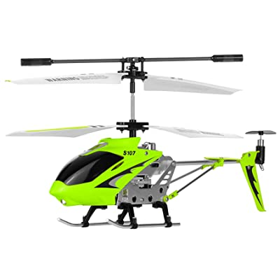 Syma S107G 3 Channel RC Radio Remote Control Helicopter with Gyro - Green: Toys & Games