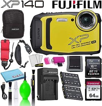 Yellow 5X Optical Zoom Camera Case Bundle with 16GB SDHC Card Rugged Float Strap Fujifilm FinePix XP130 16.4MP Digital Camera