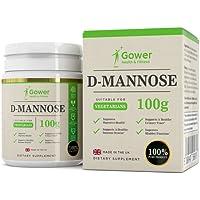 D-Mannosio - 100 g di pura Polvere | NESSUN ADDITIVO | Per la Salute della Vescica e delle vie Urinarie | Confezionato in Strutture certificate ISO in UK - Soddisfatto o Rimborsato (100g)