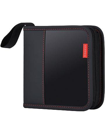 Porta CD,Coofit Estuche CD de 24 Disco Almacenamiento CD DVD Funda Protectora