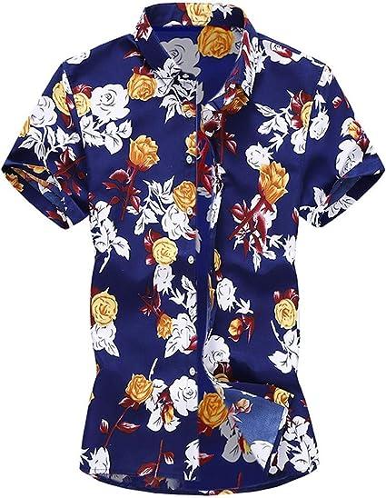 Camisa hawaiana para hombre con diseño de hojas de flores ...