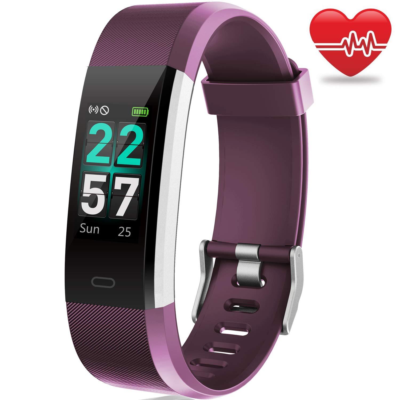 AIMIUVEI Pulsera de Actividad Inteligente, Pulsera Actividad Pantalla Color IP68 Pulsera Inteligente con Heart Rate