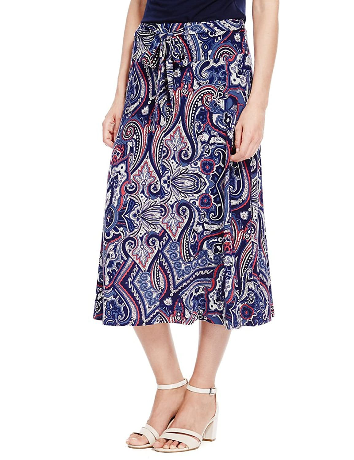 MARKS & SPENCER Collection Classic Paisley Print A-Line Skirt T58/6141