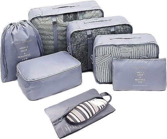 emballage organisateurs losmile 7PCS bagages Organisateur Sacs Packing cubes de stockage