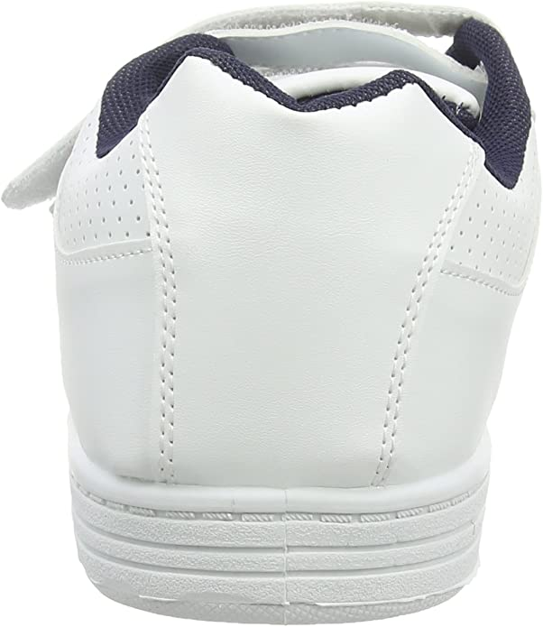 CHARING CROSS Mens Triple Touch Close Perforated School Cushioned Trainers White