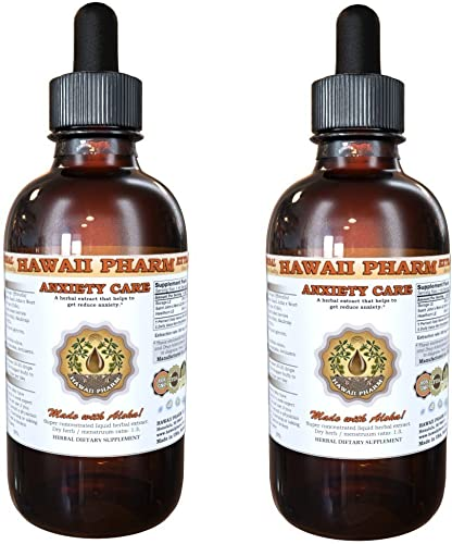 Anxiety Care Liquid Extract, Kava Kava Piper Methysticum Root, Valerian Valeriana Officinalis Root, Passion Flower Passiflora Incarnata Leaf Tincture Supplement 2×4 oz