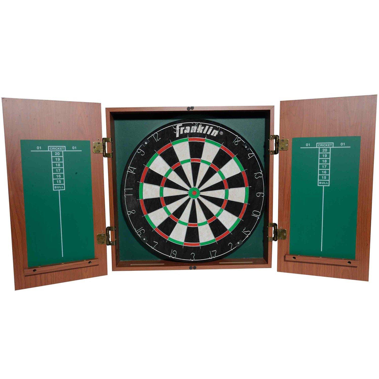Amazon.com : Franklin Sports Bristle Dartboard With Cabinet : Dart Board :  Sports U0026 Outdoors