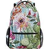 JOKERR Backpack, Tiger Floral Flower Large Capacity Casual Printed Shoulder Bag Daypack Travel Laptop Women Adults Boys Girls