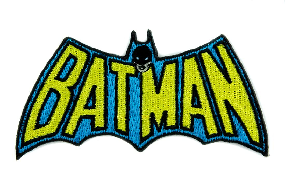 Original Batman Logo Patch Iron on Applique Superhero Alternative Clothing DC Comics