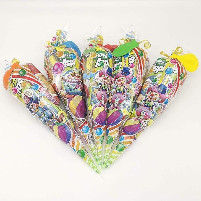 Bolsas de Chuches para Cumpleaños Lote de 20 Cucuruchos de 80 gr. c/u