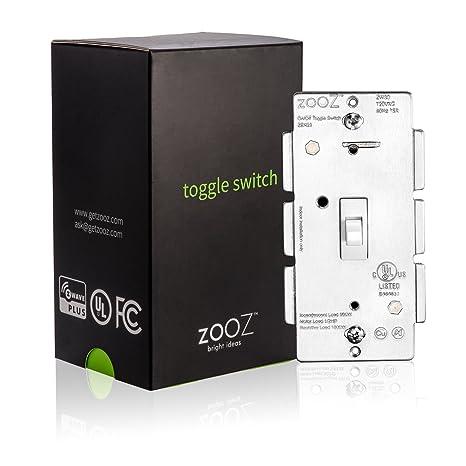 Amazoncom Zooz ZWave Plus Toggle On Off Wall Switch ZEN23 White