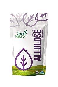 Sweet Nature Allulose Sweetener - Gluten and Sugar Free - Zero Net Carb - Non GMO - Kosher - Keto Friendly (14 oz)