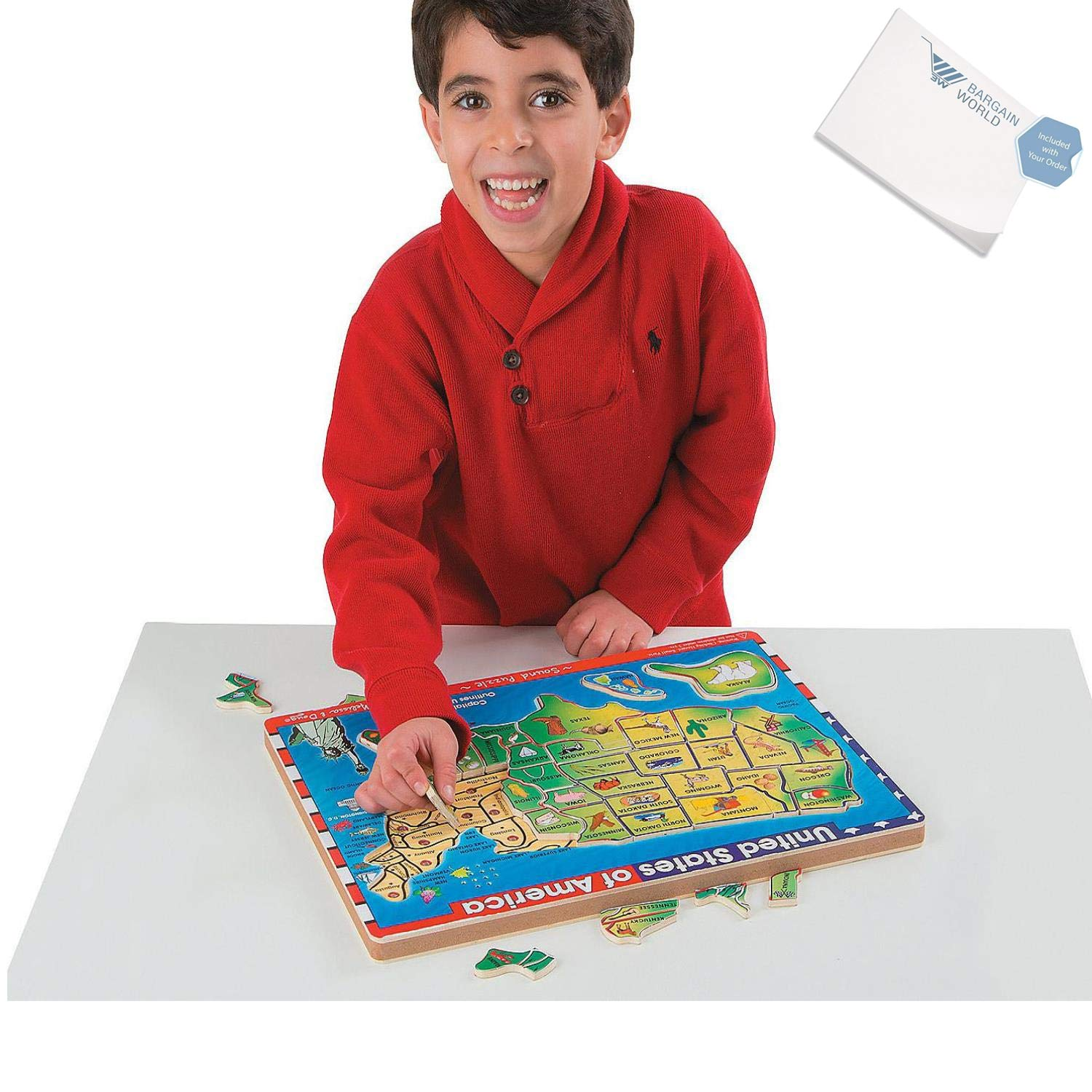 Bargain World USA Sound Puzzle (With Sticky Notes)
