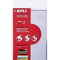 APLI 16956 - Forro de libros con solapa ajustable de PVC. Medida 280 mm, 120 µ. Pack de 3 u.