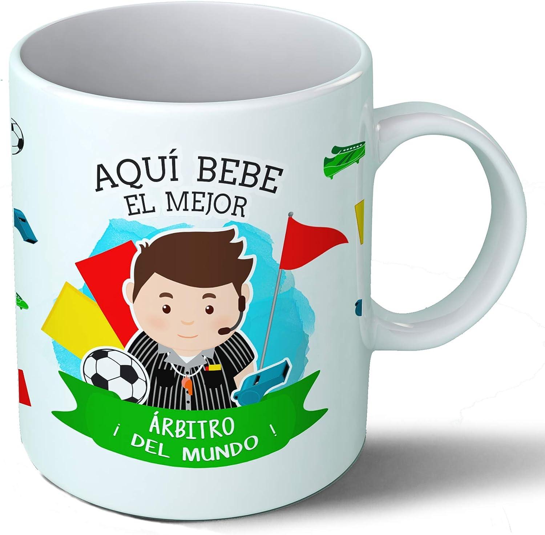 Planetacase Taza Desayuno Aquí Bebe el Mejor arbitro del Mundo ...