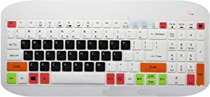for Acer 15 inch Laptop Keyboard Cover Protector for Acer Aspire E 15 E5 575 E5 576G E5 574G ES15 ES1 572 / Aspire E 17 E5 772G-candyblack-