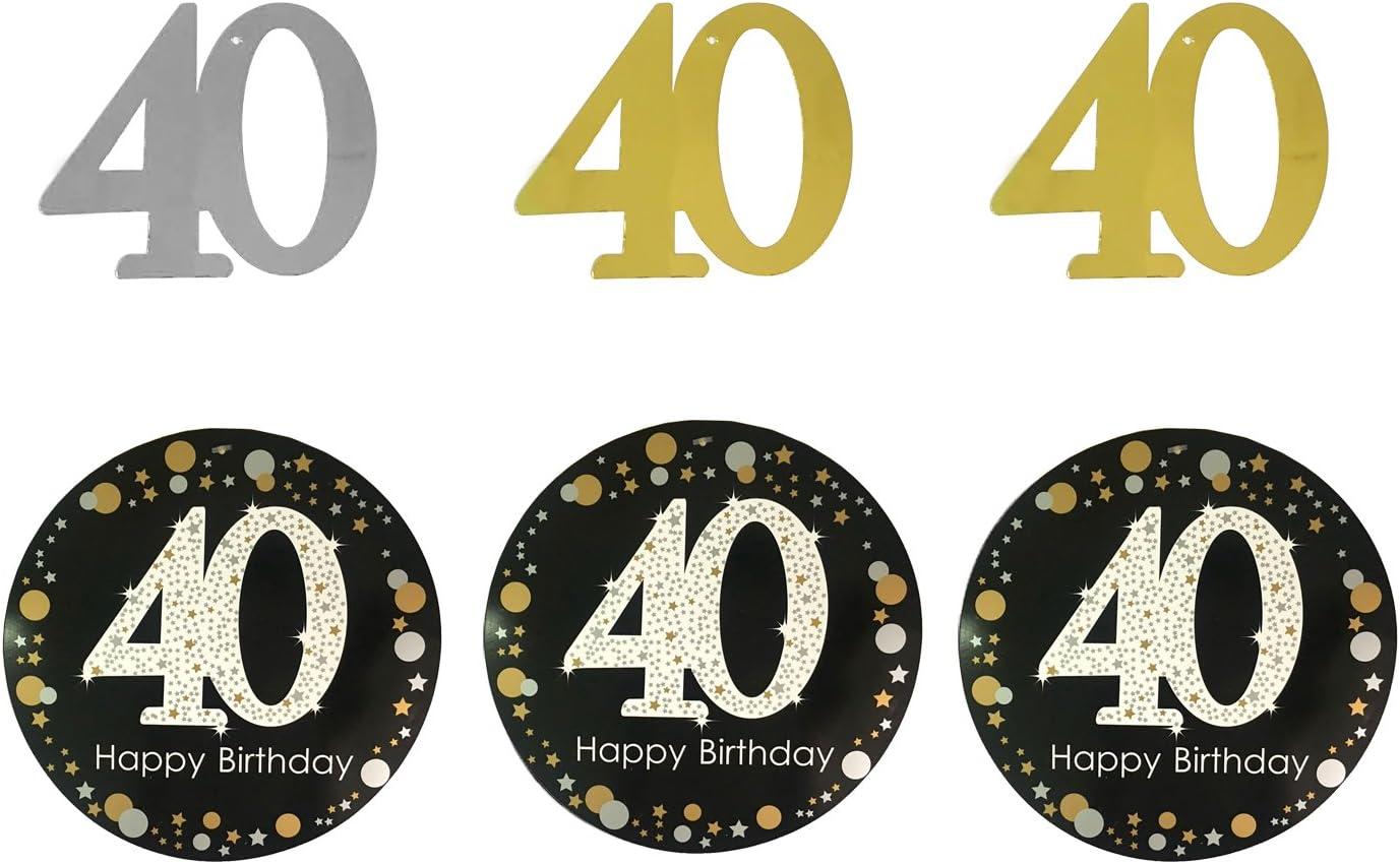Amazon.com: Tuoyi - Kit de decoración de fiesta de 40 ...