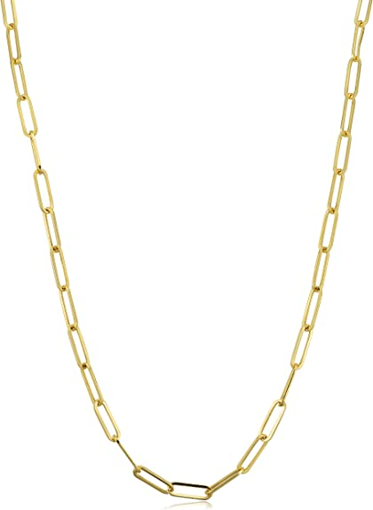 Perfect Jewelry Gift Sterling Silver 2mm Elongated Open Link Chain
