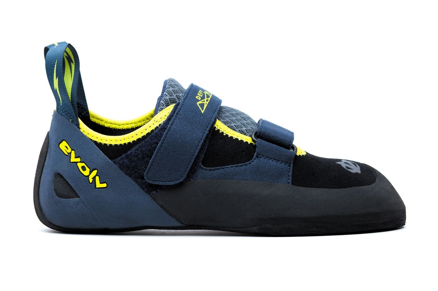 Evolv Defy Climbing Shoe - Black/Sulphur 7 by Evolv