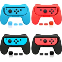 FASTSNAIL 4 Pack Grips Kit Compatible with Nintendo Switch Joy-Con, Wear-Resistant Grip Controller Compatible with Joy…