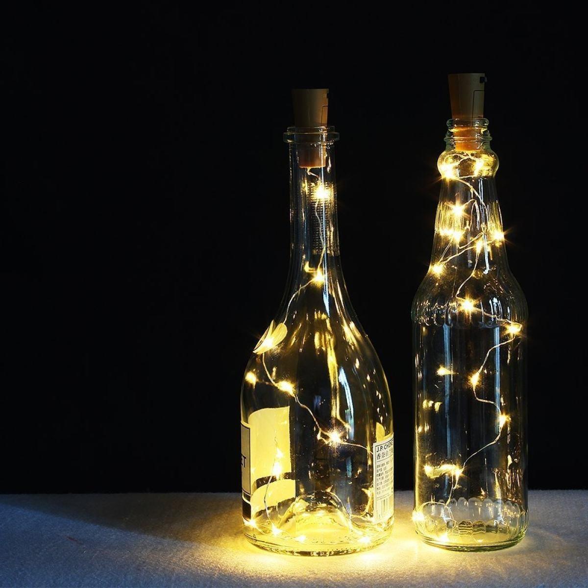 LGZOOT Botellas De Vino De Corcho De Luces De 8 2 Pies / 2 5 Millones De LED De Cobre Luces De Alambre Estrellado Luces LED Navidad Boda Y Fiesta De ...