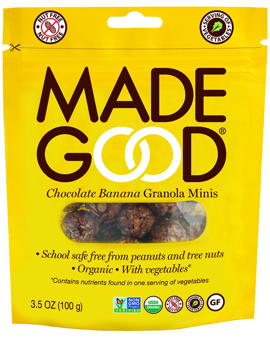 Made Good Granola Minis Chocolate Banana, 100 gram, (Pack of 6) by Made Good