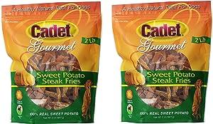 (2 Pack) Cadet Sweet Potato Steak Fries Dog Snack - 2-Pound Each