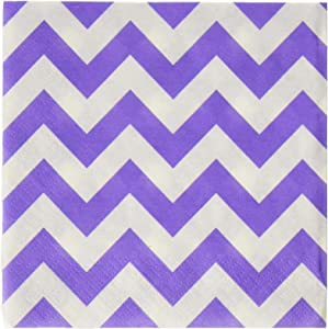 Amscan Disposable, Chevron Beverage Napkins, New Party Supplies, 5