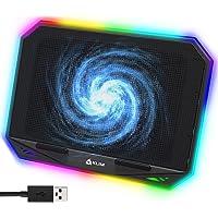 """KLIM K21 Base de refrigeración para portátiles RGB - 11"""" a 17"""" + Refrigeración para Portátil Gaming + Ventilador USB…"""