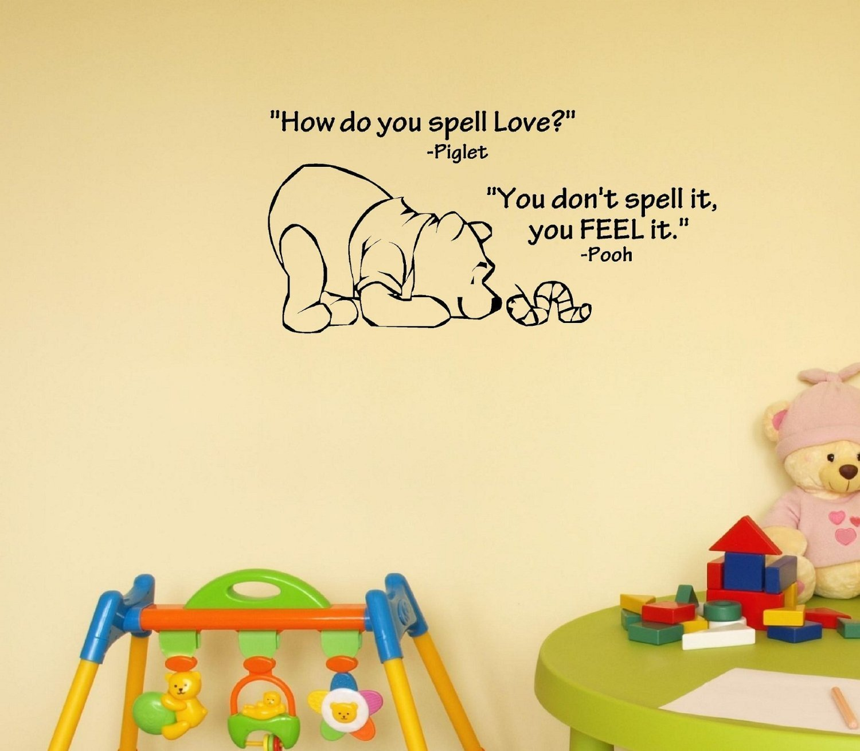 Amazon.com: Click Down Winnie the Pooh Wall Decor Decal Sticker ...