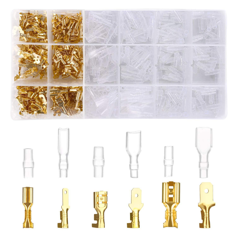 Crimpzange Elektroklemmen IDESION Crimpzange SN-48B 600PCS 2,8 mm 4,8 mm 6,3 mm m/ännlich-weibliche Anschlussklemmen f/ür Elektrokabel Crimper 0,5-1,5 mm/² Professionelles Crimpwerkzeug