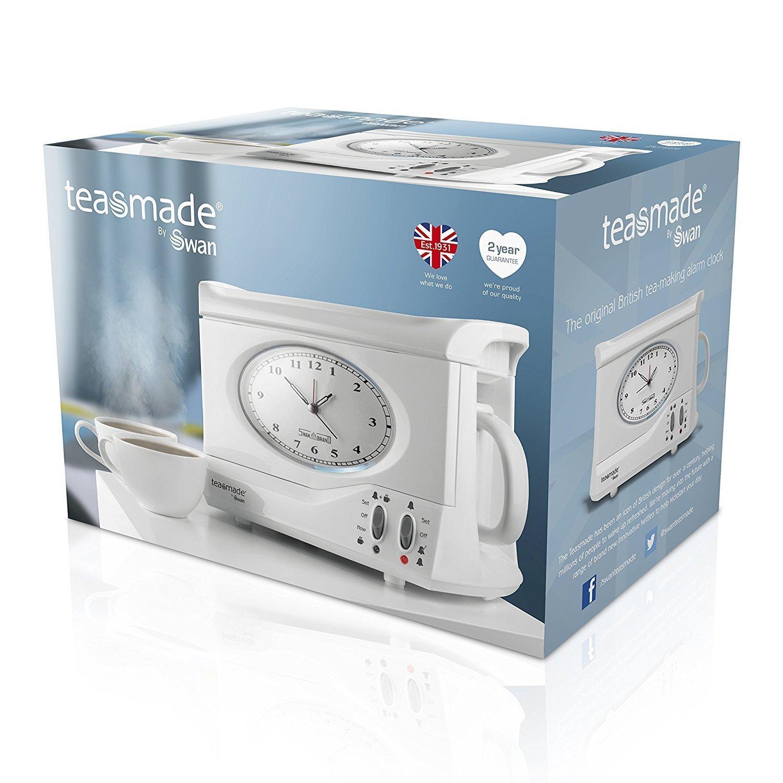 Amazon.com: SWAN Vintage Teasmade and Alarm Clock, 20oz White ...