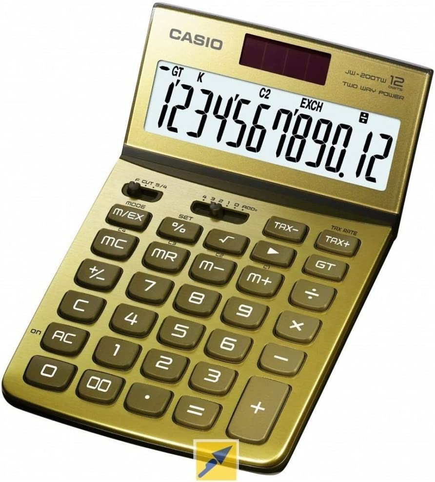 Calculadora CASIO jw-200tw de oro GD 178 x 24 x 268 mm ...