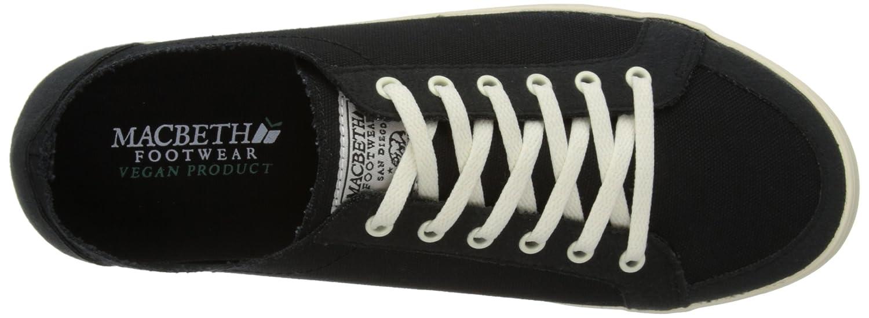 Macbeth Mens Adams Low Top Sneakers, Black (BlackCement), 4 UK