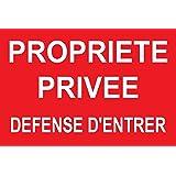 """panneau signalétique """"Propriété privée défense d'entrer"""" 300x200mm"""