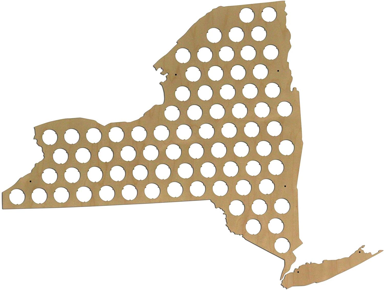 All 50 States Beer Cap Map - New York Beer Cap Map NY - Glossy Wood - Skyline Workshop - Great Christmas gift!