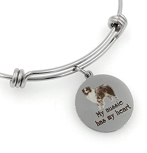 53369befd9a Amazon.com: My Aussie, Australian Shepherd Has My Heart Engraved ...