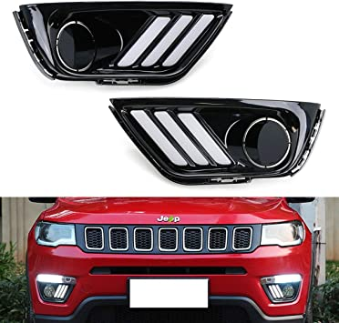 2017 2018 2019 Jeep Compass Xenon Fog Lamps Driving Lights Kit