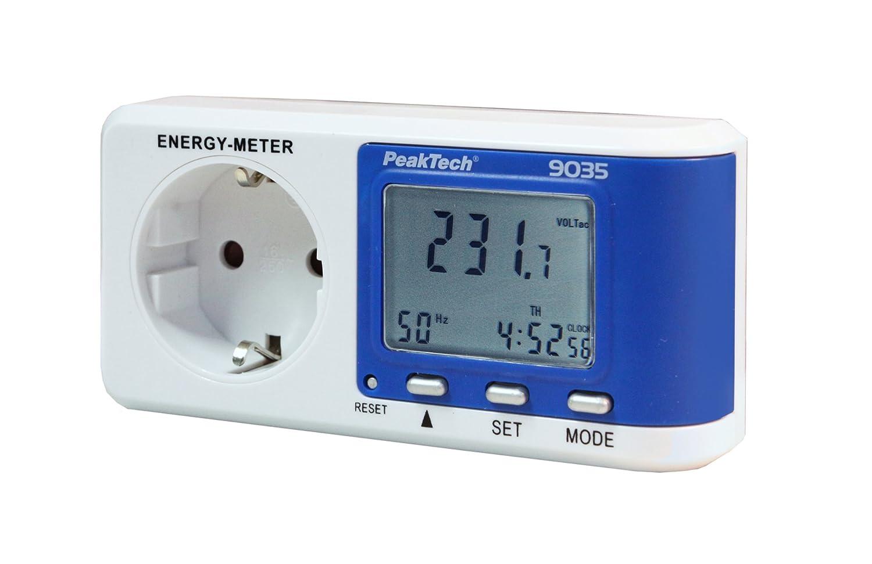 PeakTech P 9035 Rilevatore di costi energetici con risoluzione da 0,1 W con calcolo del fattore di potenza confezione da 1 pezzo