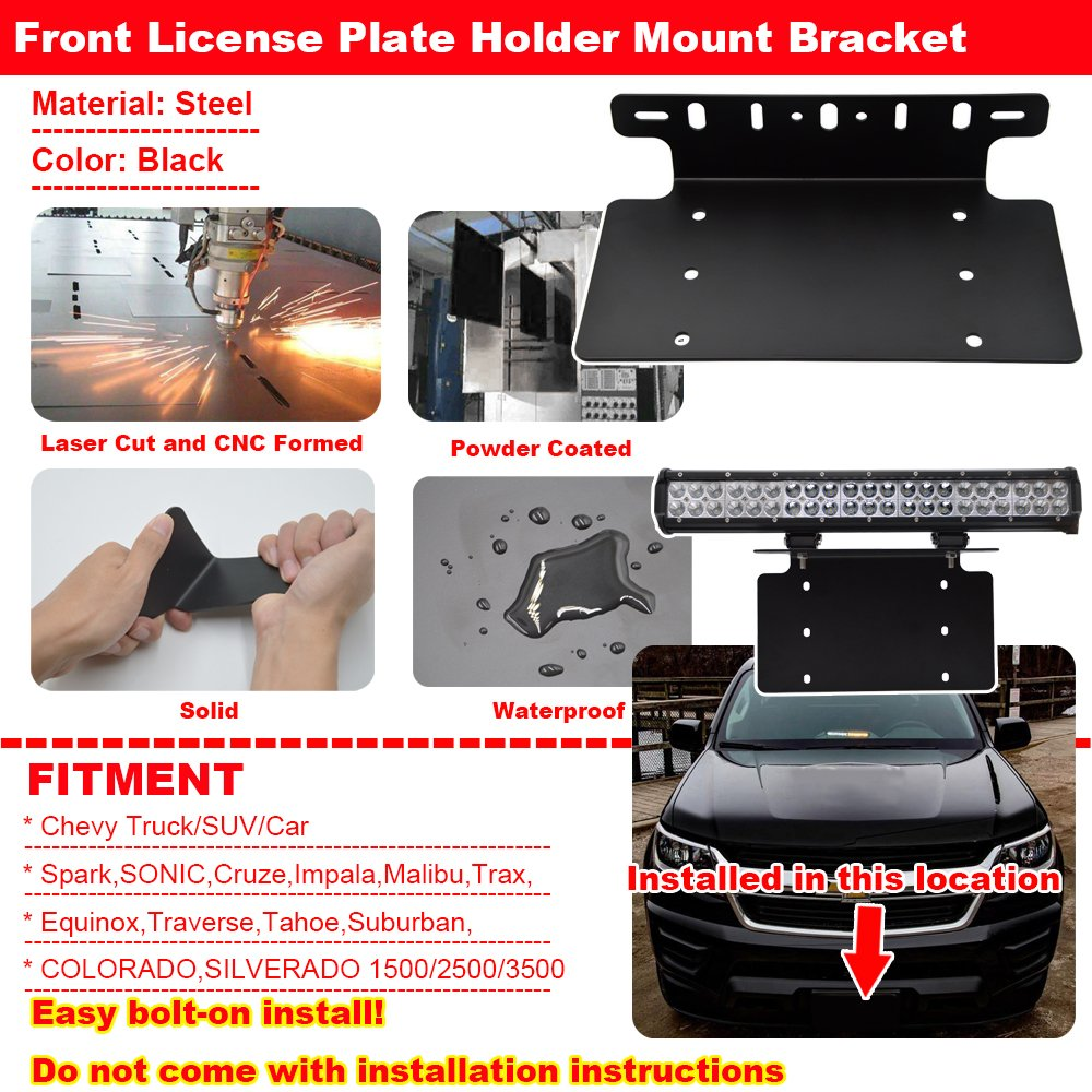 Amazon.com: 20'' 120W LED Light Bar +Front License Plate ... on