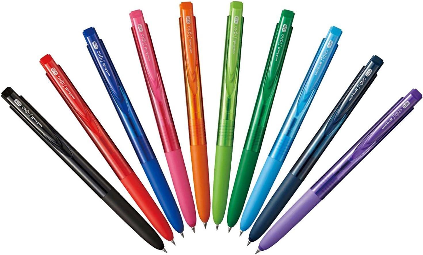 Azul-Negro 5 X Uni-Ball Signo RT UMN-155 0.5 mm Gel Rollerball Bolígrafo Retráctil