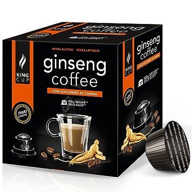 Café con Ginseng azúcar morena - 10 Cápsulas al Ginseng Dolce Gusto®* - King