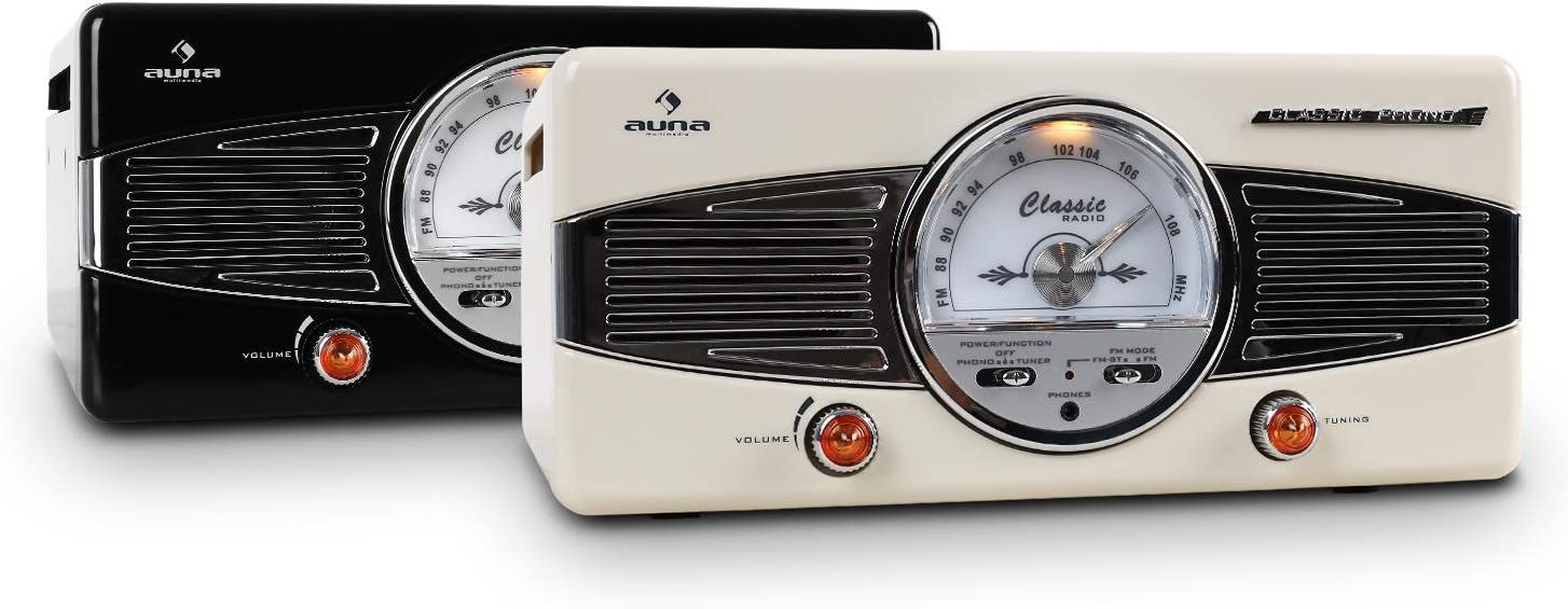 Auna - Tocadiscos MG-TT-82B: Amazon.es: Instrumentos musicales